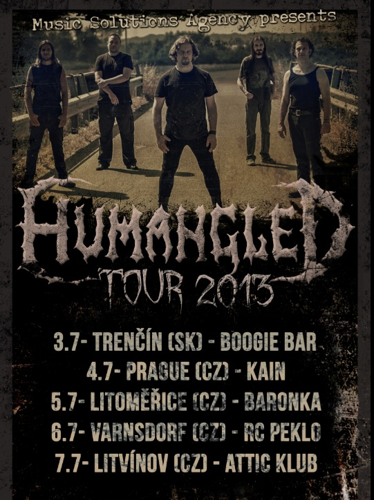 Humangled mini tour (Music Solutions Agency)