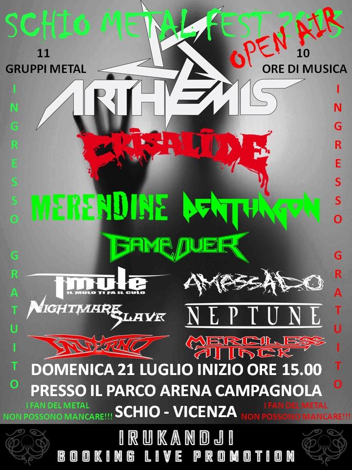 Locandina Schio Metal Fest 2013
