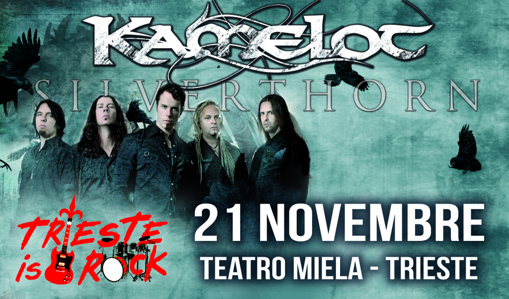 kamelot european tour poster + trieste is rock 5 20cm CMYK